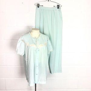 Vintage pajamas lightweight babydoll blue